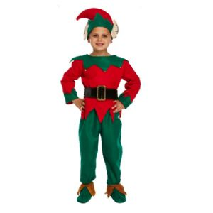 Age 4-6 Small Large BOYS or GIRLS Childs Christmas Elf Fancy Dress Costume